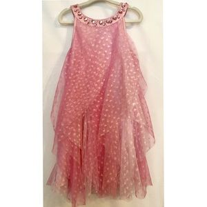 Girls pink and bling dress, pink with pink gems